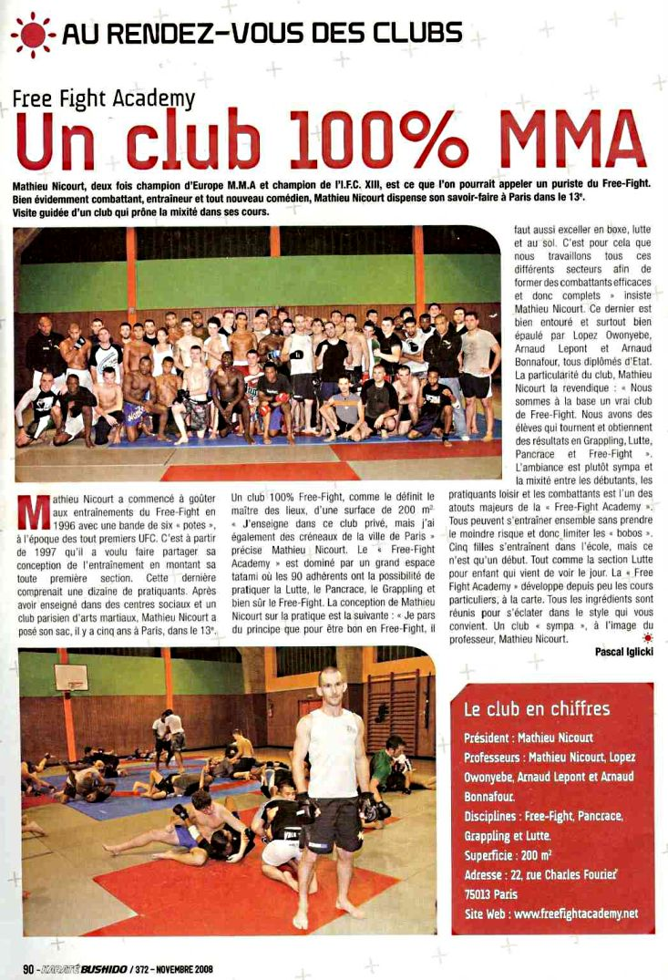 Un Club 100% MMA /  Magazine: Karate Bushido