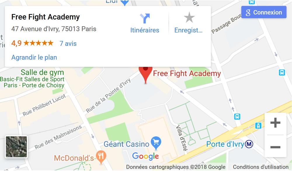 Club MMA Paris Free Fight Academy Salle Paris 13.png