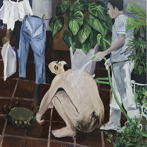 Eduardo Berliner, Varal, óleo sobre tela, 2012