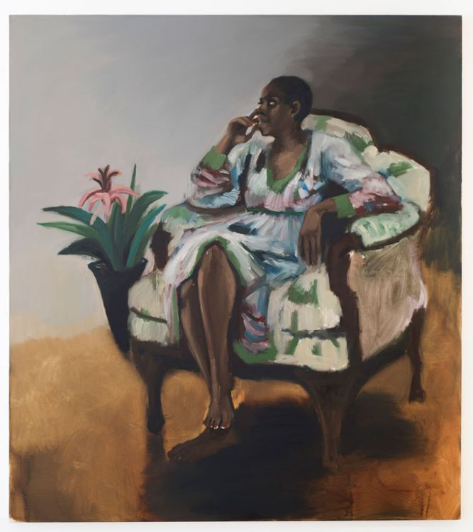 Lynette Yiadom-Boakye, 1 pm, Mason's Yard, oil on canvas, 2014