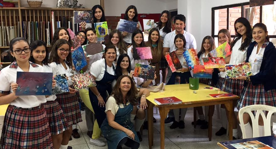 BIC Art Seminar - Organic Journey Art Workshop at the British International School (BIC) in Barranquilla, Colombia.