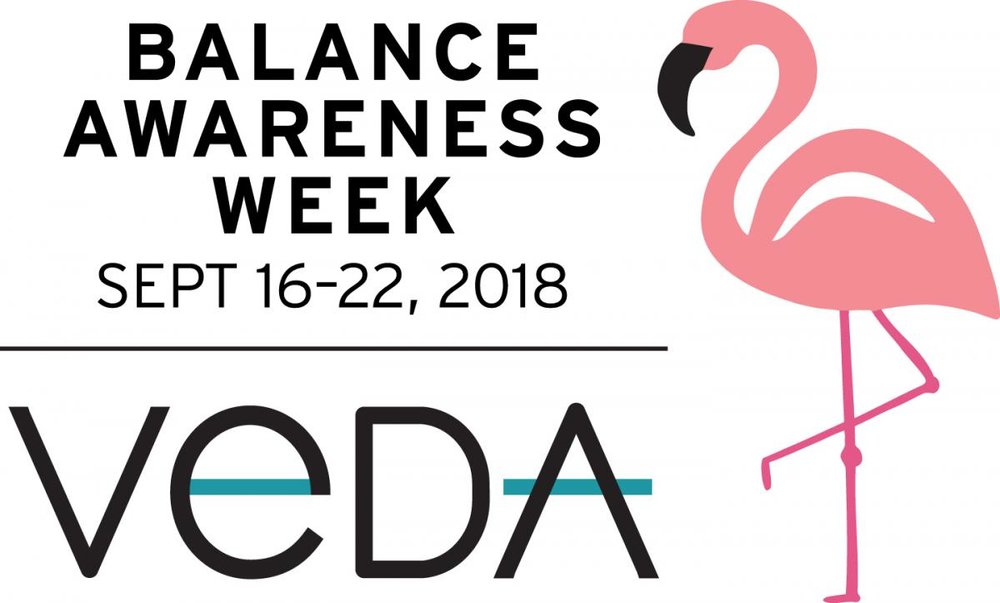 Art Collaboration with Vestibular Disorders Association (VeDA) - 08.04.18VeDA selected 'Balance Warrior' as the centerpiece of 2018's Balance Awareness Week campaign. This artwork is currently featured on their poster and other items available on VeDA's website as part of a comprehensive fundraising campaign––100% of the proceeds of the sales will go to supporting this wonderful organization.Nicolle holds VeDA dear to her heart because of the wonderful work they do for vestibular patients suffering a wide variety of vestibular disorders. VeDA is also an excellent resource for vestibular patients, their families, researchers, and medical doctors. VeDA's site is a digital library as well as a safe space for webinars and online support groups.'Balance Warrior' is a small mixed-media painting that belongs to The Colors of Sound Series. It was created by Nicolle during a time when she was experiencing severe vertigo episodes, almost daily. It was very difficult to paint, or just to stay awake / function, but she managed to use art as her coping mechanism and continues to spread awareness by sharing her art and her story.To purchase Balance Awareness Week (BAW) merchandise, click here.To learn more about vestibular disorders, click here.