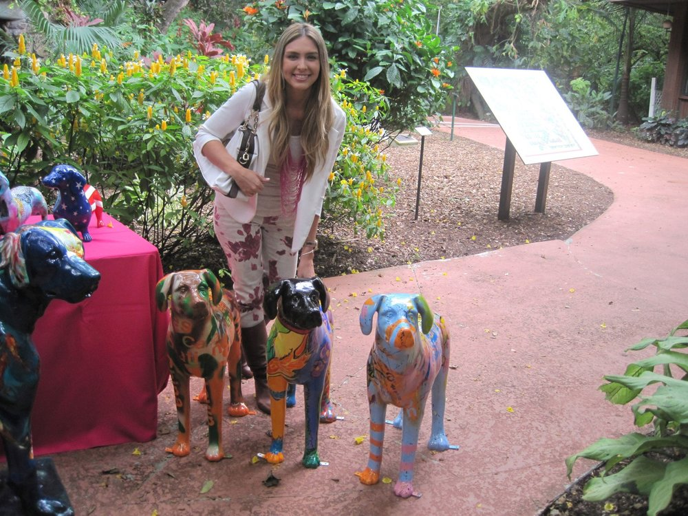 Fashion in the Gardensat Pinecrest Gardens - 03.01.13Nicolle Cure was commissioned to paint a beautiful dog sculpture for the live art auction of Fashion in the Gardens. She picked the name
