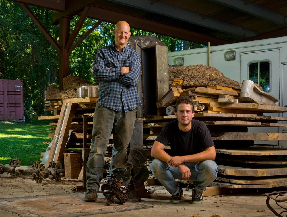 THE TEAM - Over 35 years ago, artist David Hess began making sculpture and furniture from wood, metal, and found objects. Eli Hess started welding in kindergarten and gained a background in architecture to compliment his studio craft.  Teaming up together, the pair explore science, technology, and the relationship between human beings and their environment through public art, commissioned furniture, and gallery shows.