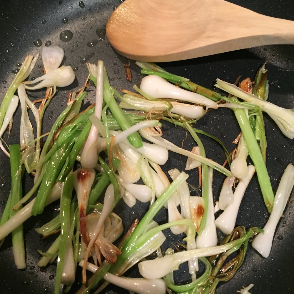 Fresh garlic - sautéed