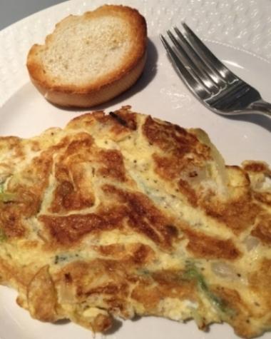 Frittata con aglio fresco