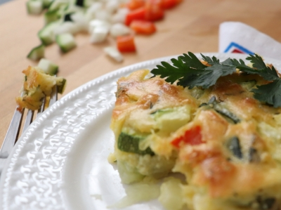 Zucchini quiche, crustless