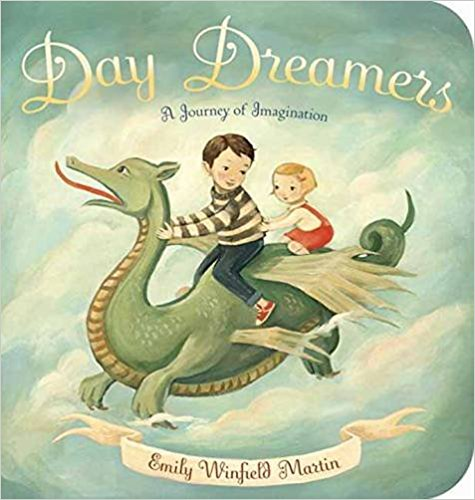 "Day Dreamers  - By the same author of ""Dream Animals"", this board book steps into the world of children where nothing is every truly ""ordinary"". Whether finding animals floating through the clouds, or the magical creatures stepping off the pages of books, this book is a reminder to let our imaginations create enjoyment everywhere."