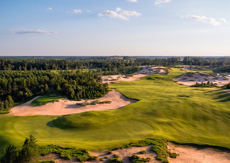 1. MAMMOTH DUNES AT SAND VALLEY RESORT, NEKOOSA, WIS.  On the heels of Sand Valley's new Coore-Crenshaw layout that debuted in 2017, the resort's second course, Mammoth Dunes, looms large for 2018. Designed by David McLay Kidd, aptly named Mammoth Dunes occupies a massive, 620-acre plot. It features more dramatic terrain than Sand Valley's original course, highlighted by an 80-foot-high, V-shaped ridge that gives rise to Ballybunion-style sandhills. More than a dozen holes opened for preview play in 2017, to enthusiastic reviews.  Read More at : http://www.golf.com/courses-travel/2018/01/11/travelin-joes-10-most-anticipated-golf-courses-2018