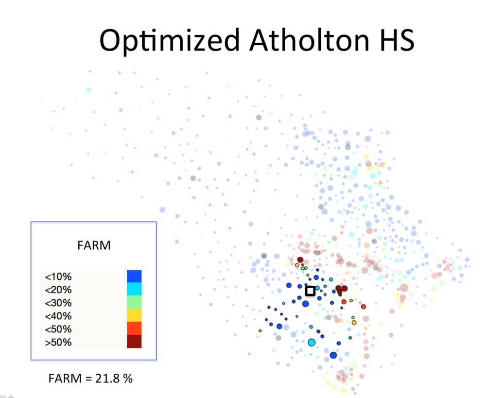 Figure 1 (A): Atholton HS District Optimized Plan