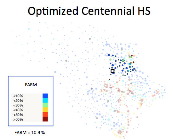 Figure 1 (B): Centennial HS District Optimized Plan
