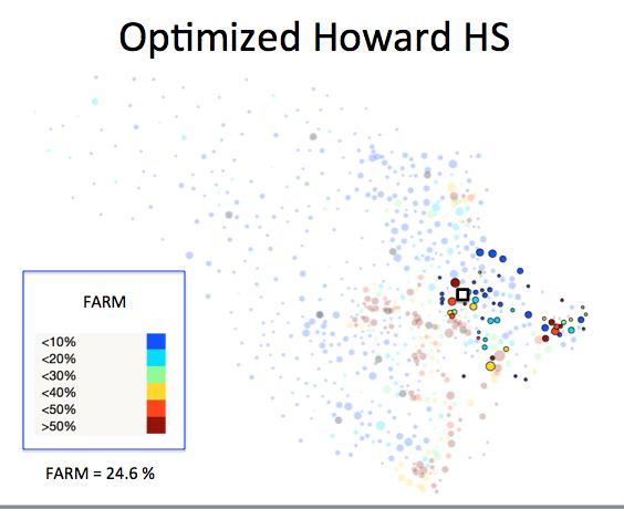 Figure 1 (E): Howard HS District Optimized Plan