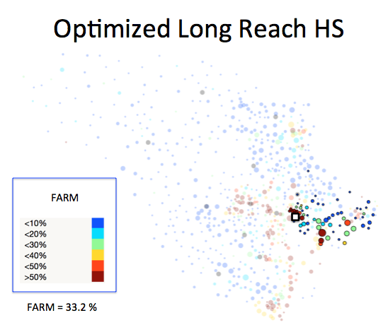 Figure 1 (F): Long Reach HS District Optimized Plan