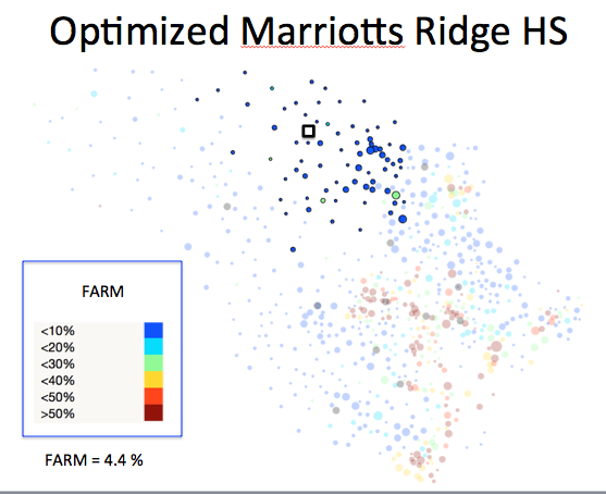 Figure 1 (G): Marriotts Ridge HS District Optimized Plan