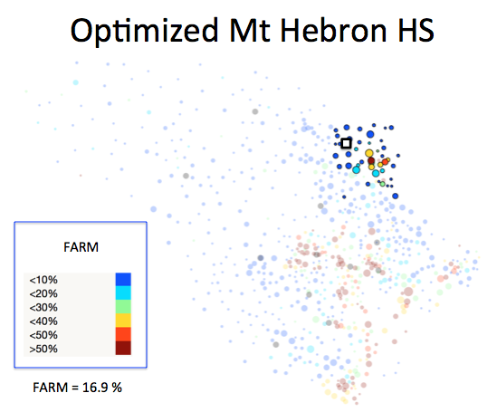 Figure 1 (H): Mt Hebron HS District Optimized Plan