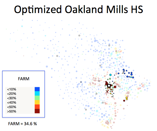 Figure 1 (I): Oakland Mills HS District Optimized Plan