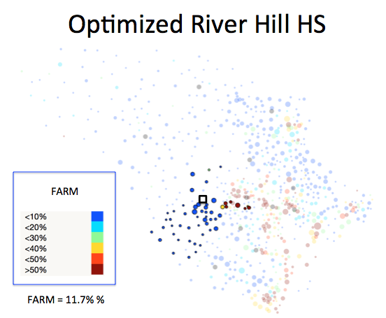 Figure 1 (K): River Hill HS District Optimized Plan