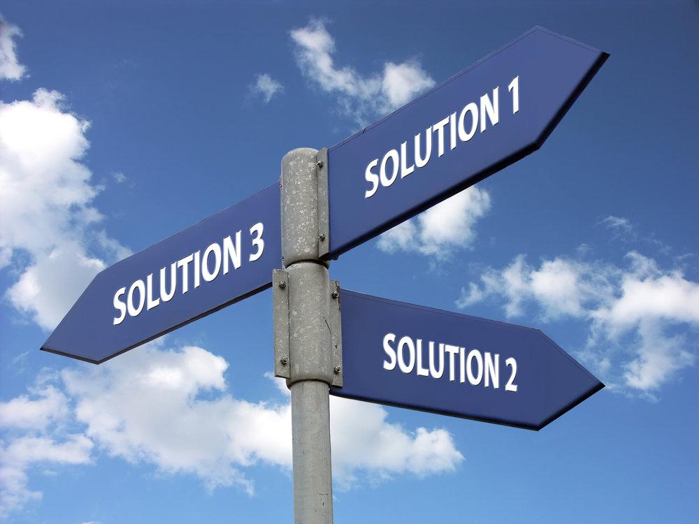 three solutions