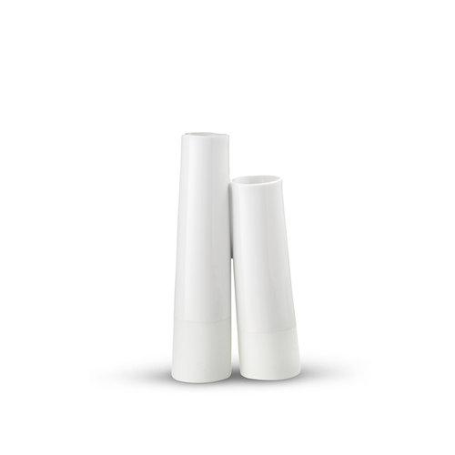 Tube Vase 2 Tubes White Danish Design Space