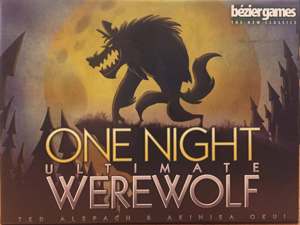 Fun, lively art on thick cardboard cards in a mercifully small box make  One Night Ultimate Werewolf  a joy to take along to game night.