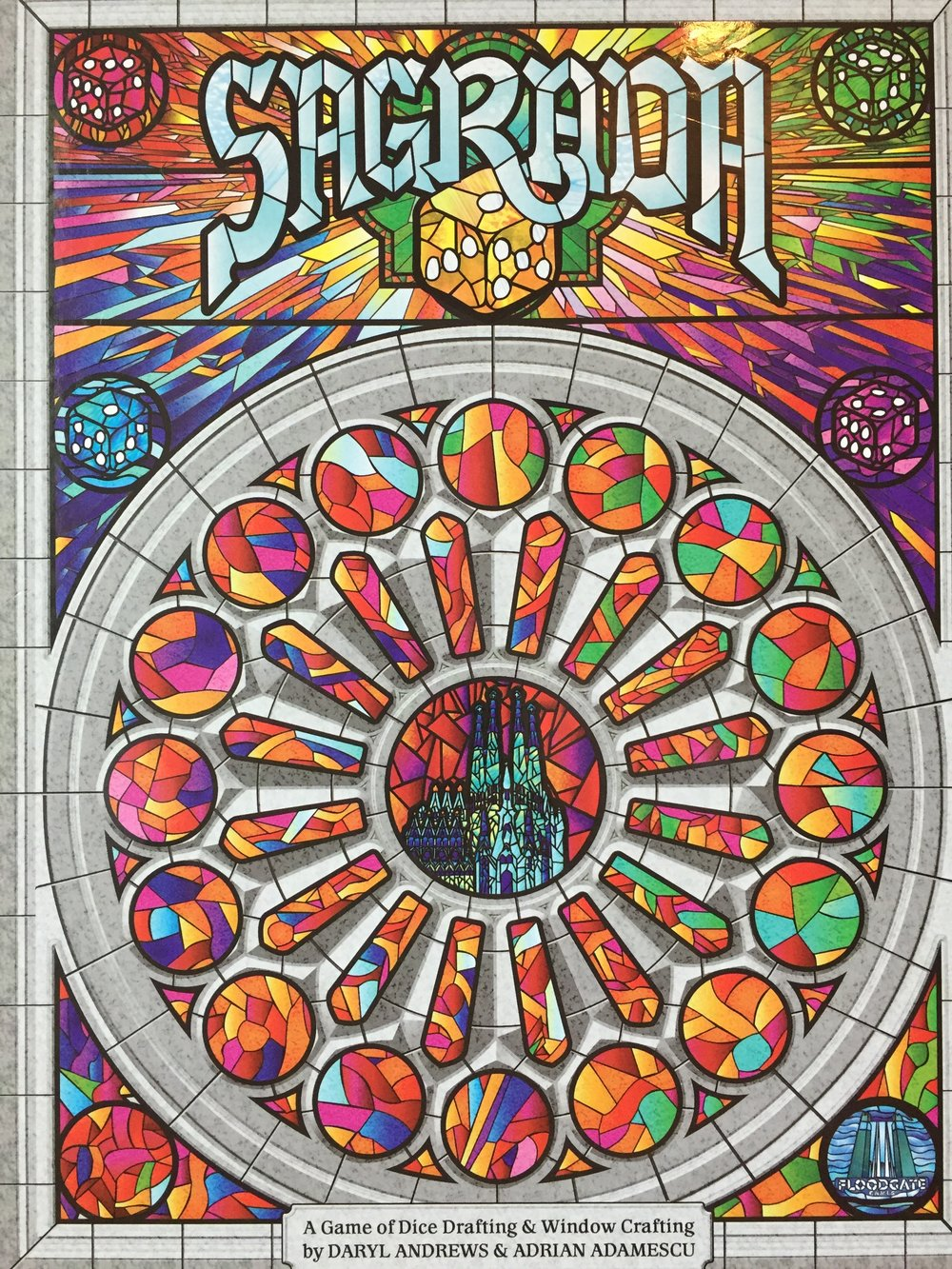 Sagrada is an addictive puzzle game with vibrant art design and components, just like the real-life Sagrada Familia in Spain.