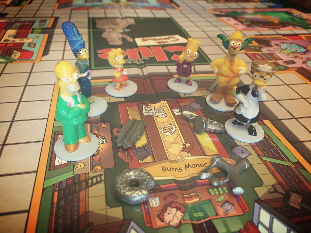 "We only had  Simpsons Clue  to photograph, but Homer knows what to do: "" I would kill everyone in this room for a drop of sweet beer ."""