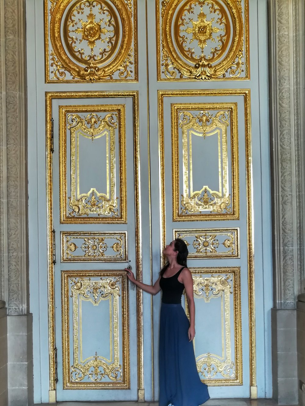 The beautiful doors in the Palace