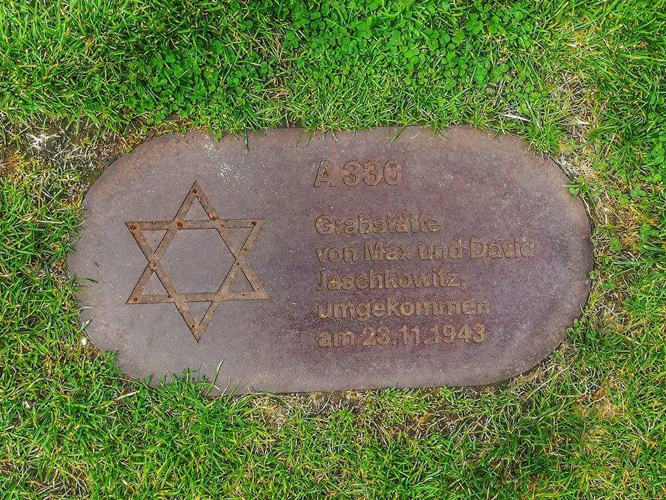 One of the many plaques throughout Berlin bearing the names of victims of the war.