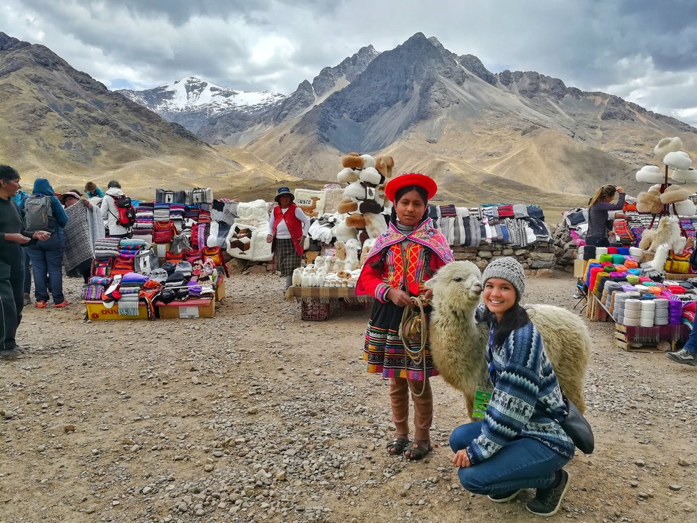 Gorgeous view of the Andes, and cute photo of a couple locals