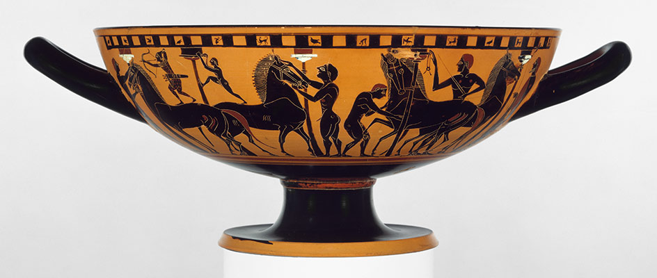 Terracotta kylix (drinking cup), Metropolitan Museum of Art
