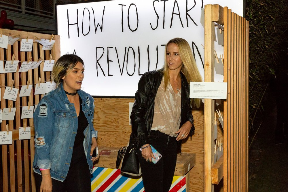 How to Start A Revolution  installation at stARTup SF 2018, by  Hunter Franks.
