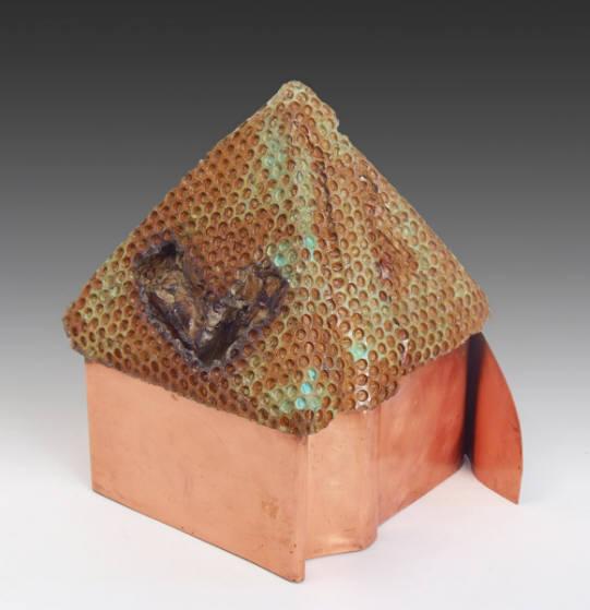 """Altar Offering""   Mixed-media sculpture  by Dan Woodard  Size: 7 x 8""   $650.00"