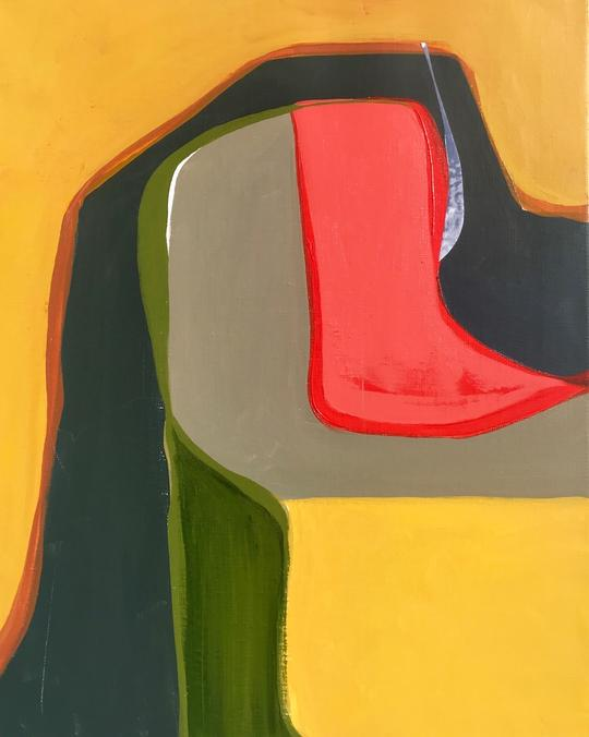 Chino Canyon Map 2   Lynda Keeler  Acrylic on canvas  20 x 16 inches    $850