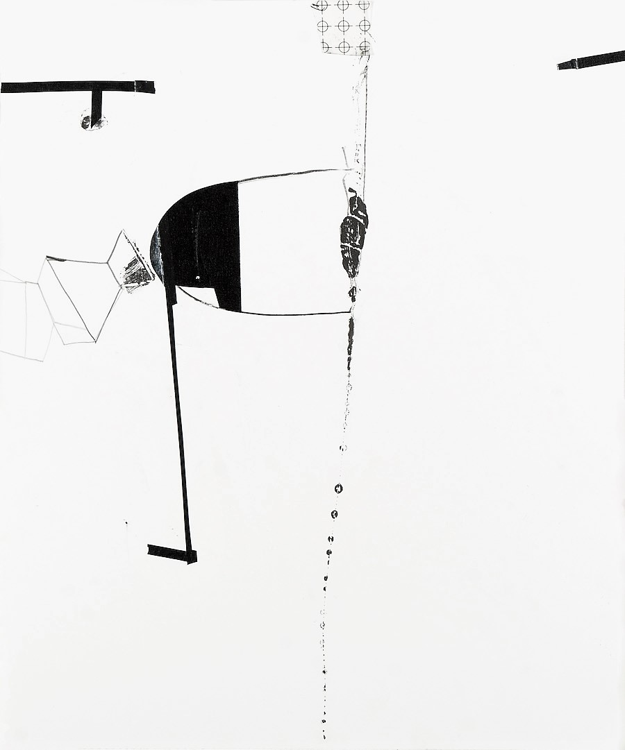 "Jennifer Kaufman    Certain Utterances #4   Graphite, ink, and tape on paper.  17"" x 14""    $1000"