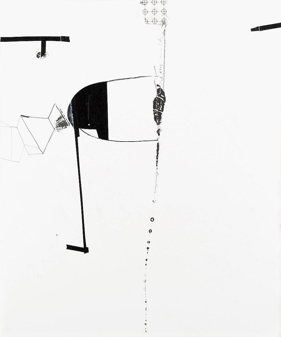 "Jennifer Kaufman    Certain Utterances #4   Graphite, ink, and tape on paper.  17"" x 14""    $1000"