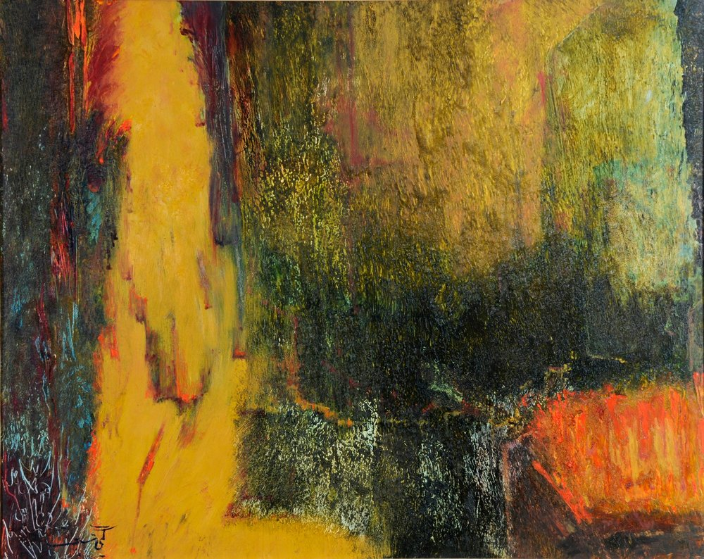 """""""untitled two"""" by    Guity Seif   , 4' x 3', Oil on Canvas"""