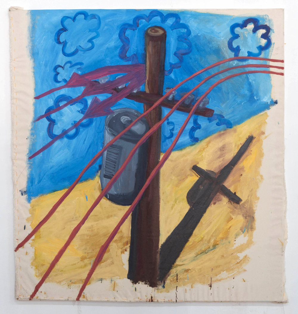 """Jesus Piece   Oil painting on Canvas  by  Aaron Salm   Size: 51 x 55""""    $2,500.00"""