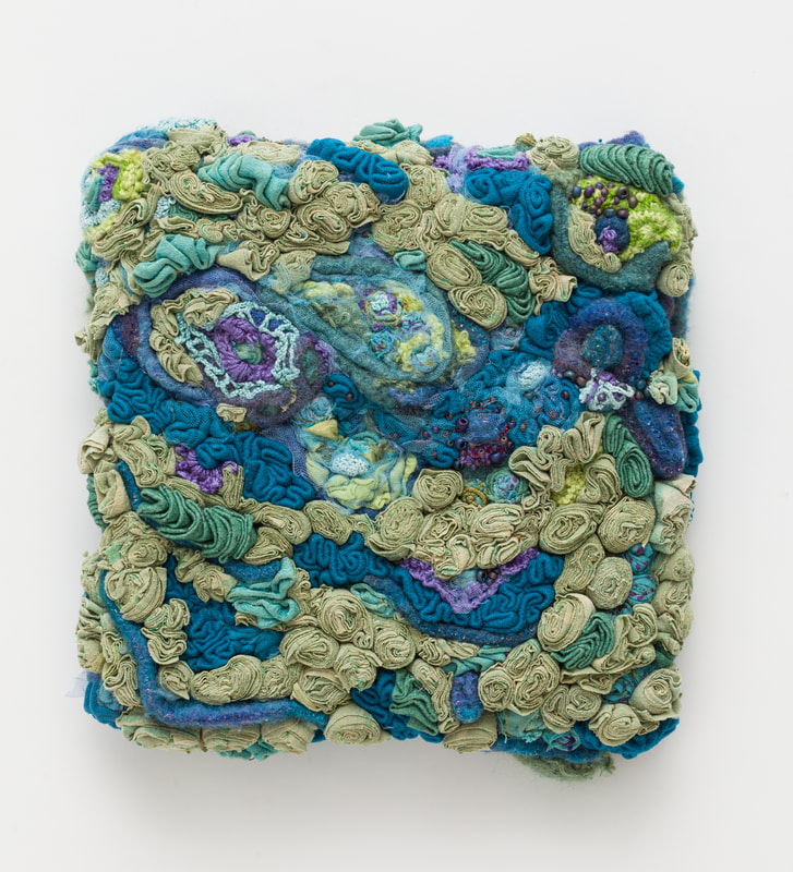 """Tranquility Cluster   Sculpture on Panel / Board / MDF  by  Amanda Triplett   Size: 12 x 13""""    $375.00"""