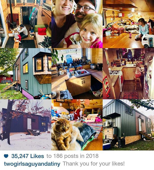 My true #top9of2018 according to the Gram! Thanks to all those who have been following along on my #tinyhousejourney !