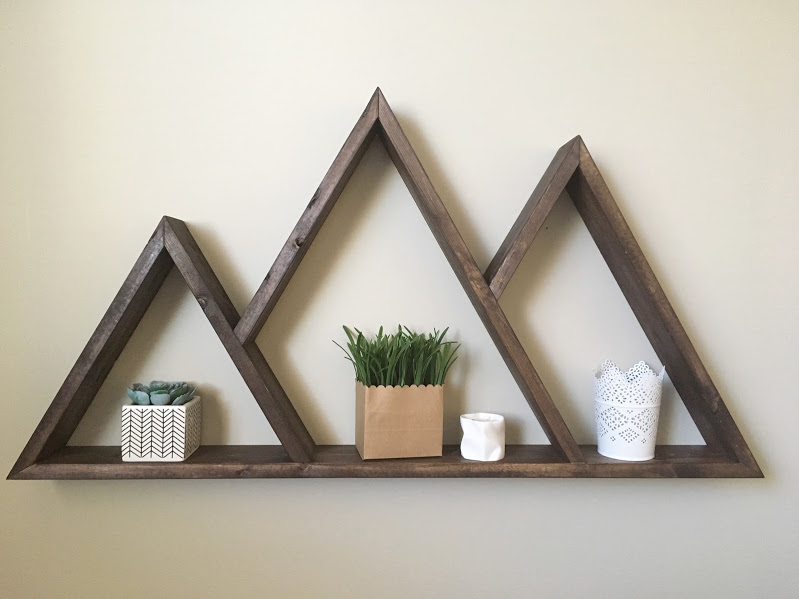 Three Peak Mountain Shelf - $60 - Dimensions - 36