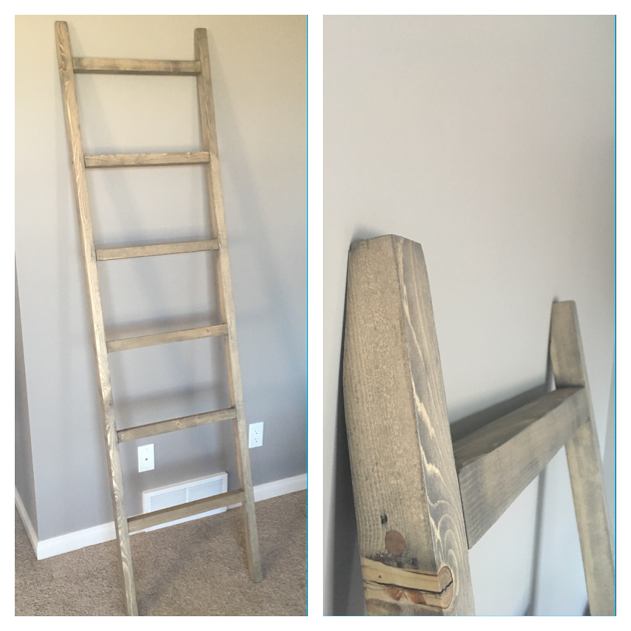 Large Blanket Ladder $80 - Dimensions - 6 1/2' T{In Whole Wheat stain}