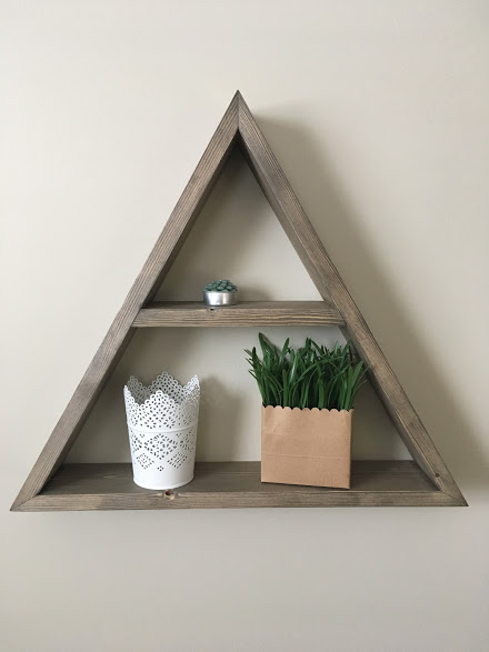 4-Way Triangle Shelf $35 - Dimensions - 20