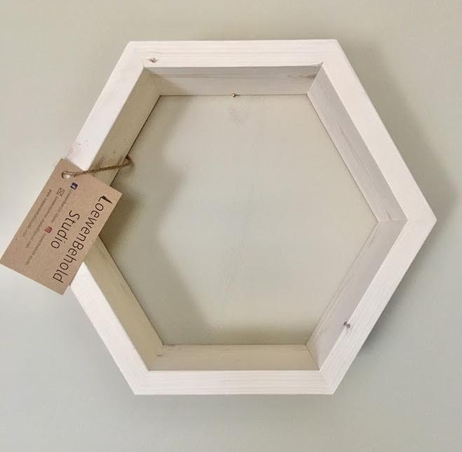 Mini Hexagon Shelf $25 - White