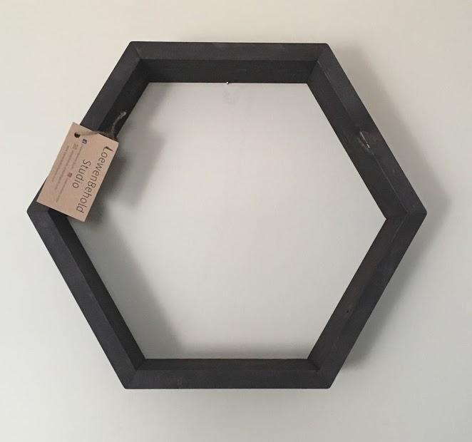 Hexagon Shelf $35 - Chocolate Brown