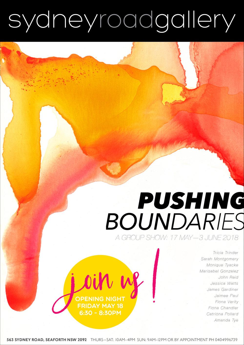 PUSHING BOUNDARIES - 17TH MAY - 3RD JUNE 2018
