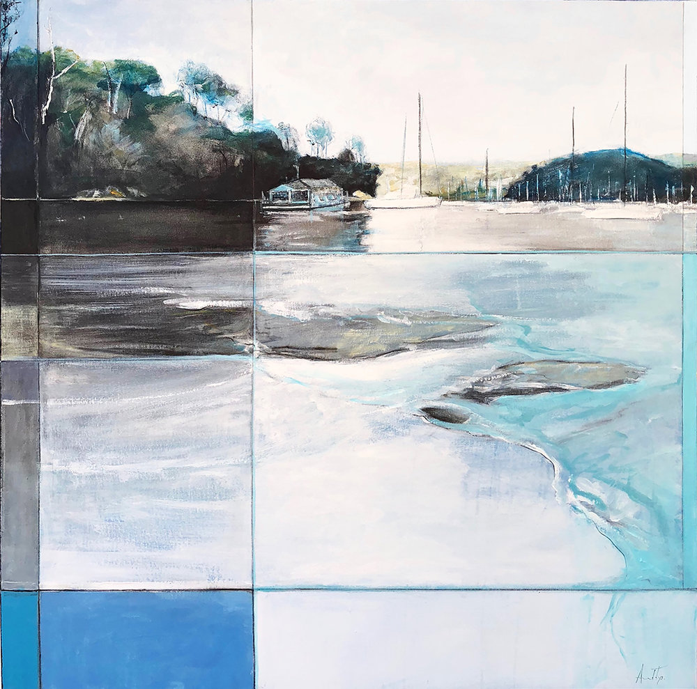 SOLD - Amanda Tye - 'Somewhere Along the Manly to Spit Walk' $2800