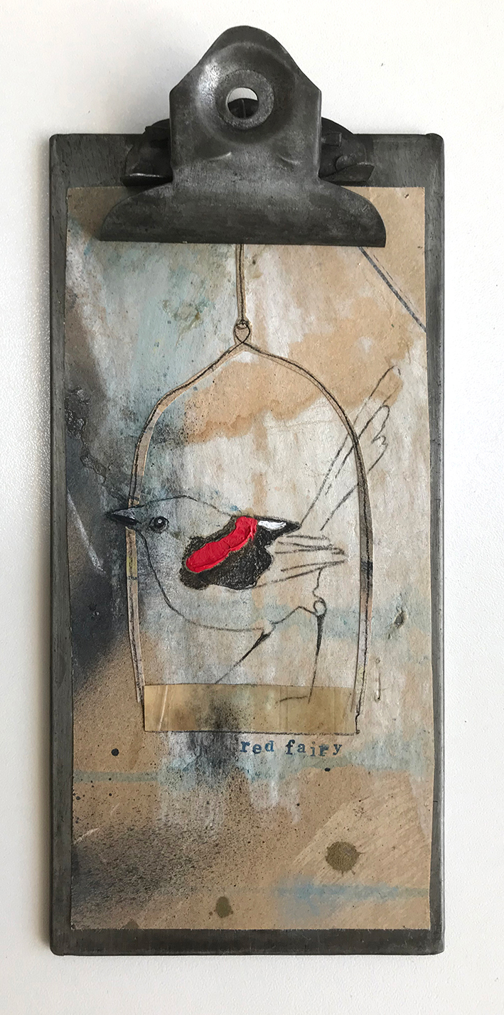 Jessica Watts 'Notes From The Field, Red Fairy' $395