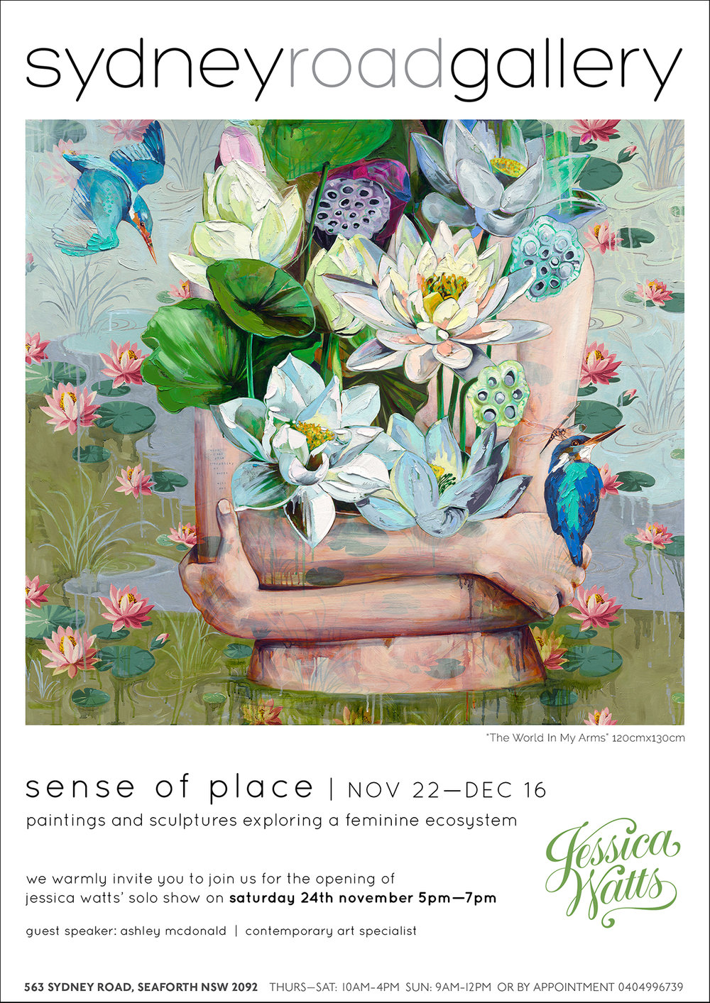 A SENSE OF PLACE - A Solo ShowJessica WattsWhen: 22nd November - 16th December 2018Times: Thursday - Saturday 10am - 4pm & Sunday 9am - 12pmLocation: Sydney Road Gallery, 563 Sydney Road, Seaforth, NSW, 2092Catalogue