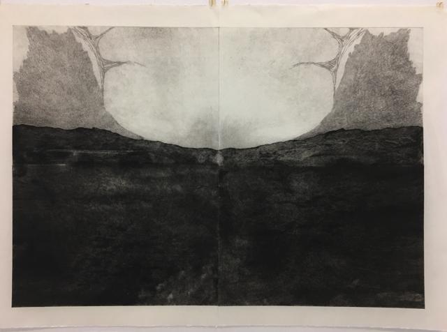 SOLD Eleanor Amiradaki  'The Swan myth II' $1200