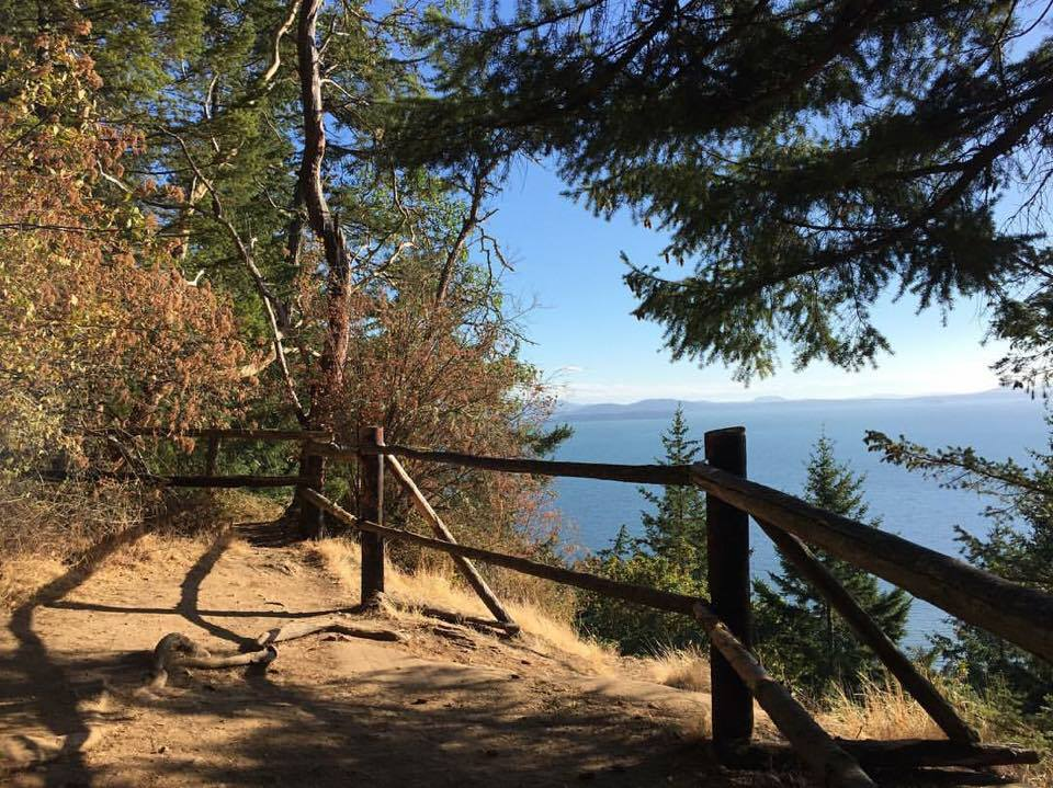 One of my favorite places on earth: The lookout at the Fragrance Lake trail near Bellingham, WA.